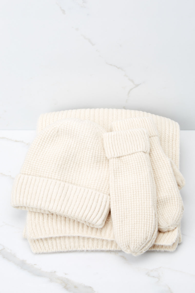 3 Comfort In The Cold Ivory Mittens at reddressboutique.com