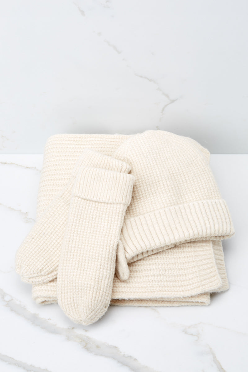 4 Comfort In The Cold Ivory Mittens at reddressboutique.com