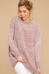 Focus On You Pink Tinsel Chenille Sweater