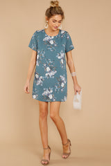 2 Just This Time Dress In Falling Florals at reddressboutique.com