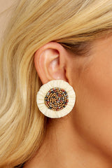 1 Take In This Moment Ivory Earrings at reddressboutique.com