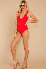 1 Out In The Sun Red One Piece at reddressboutique.com