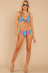 3 Low Tide Rainbow Stripe Bikini Bottoms at reddress.com