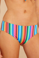 1 Low Tide Rainbow Stripe Bikini Bottoms at reddress.com