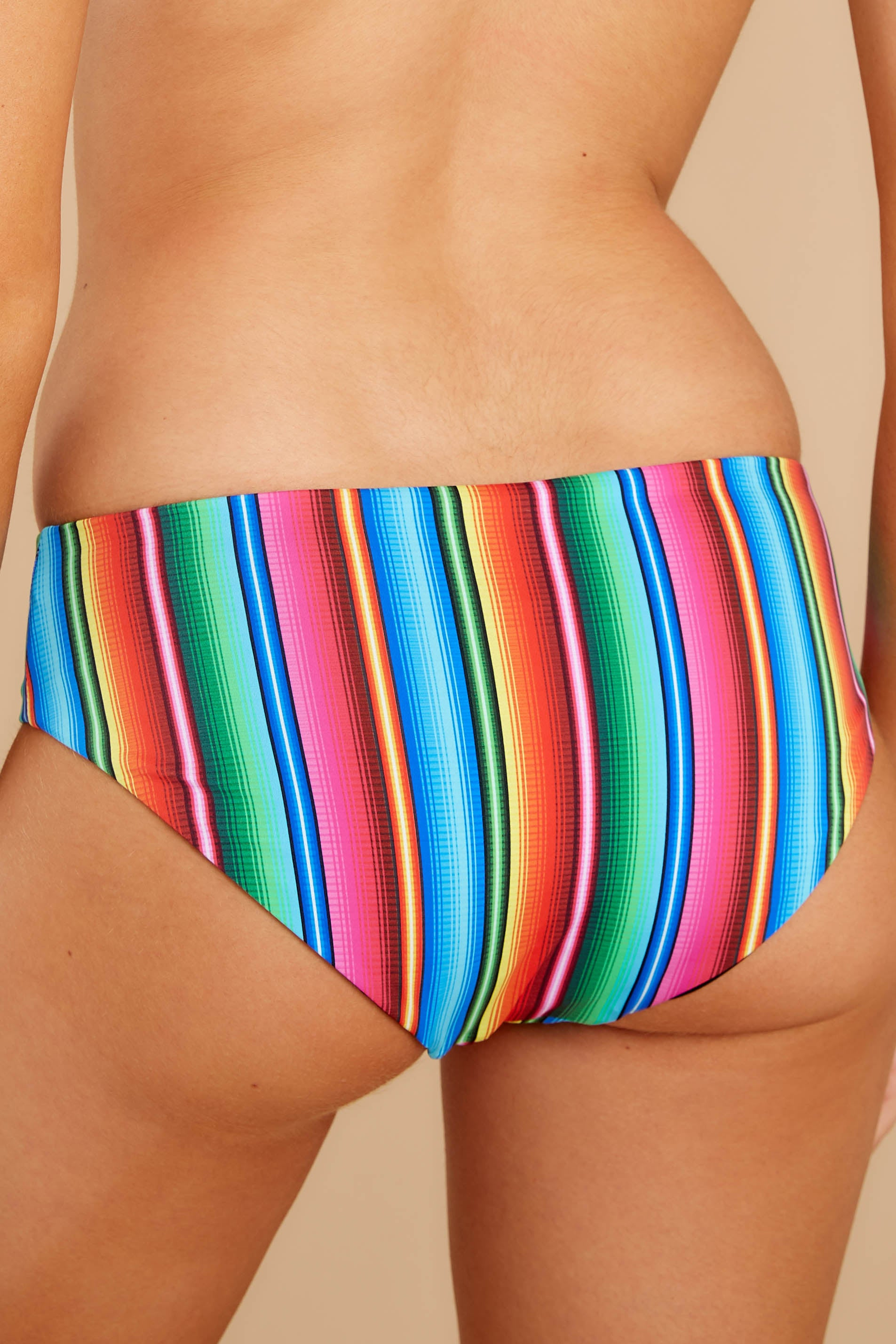 2 Low Tide Rainbow Stripe Bikini Bottoms at reddress.com
