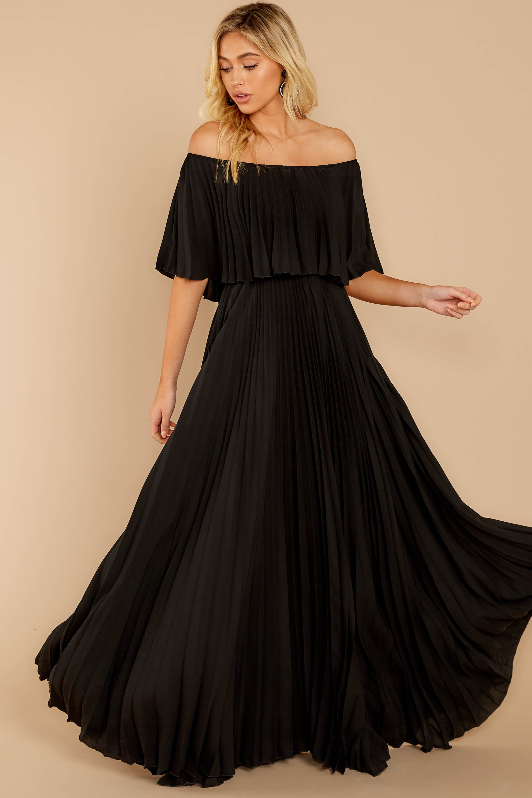 6 Like A Song Black Maxi Dress at reddressboutique.com