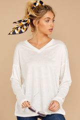 5 Talk To Ya Later White Top at reddressboutique.com