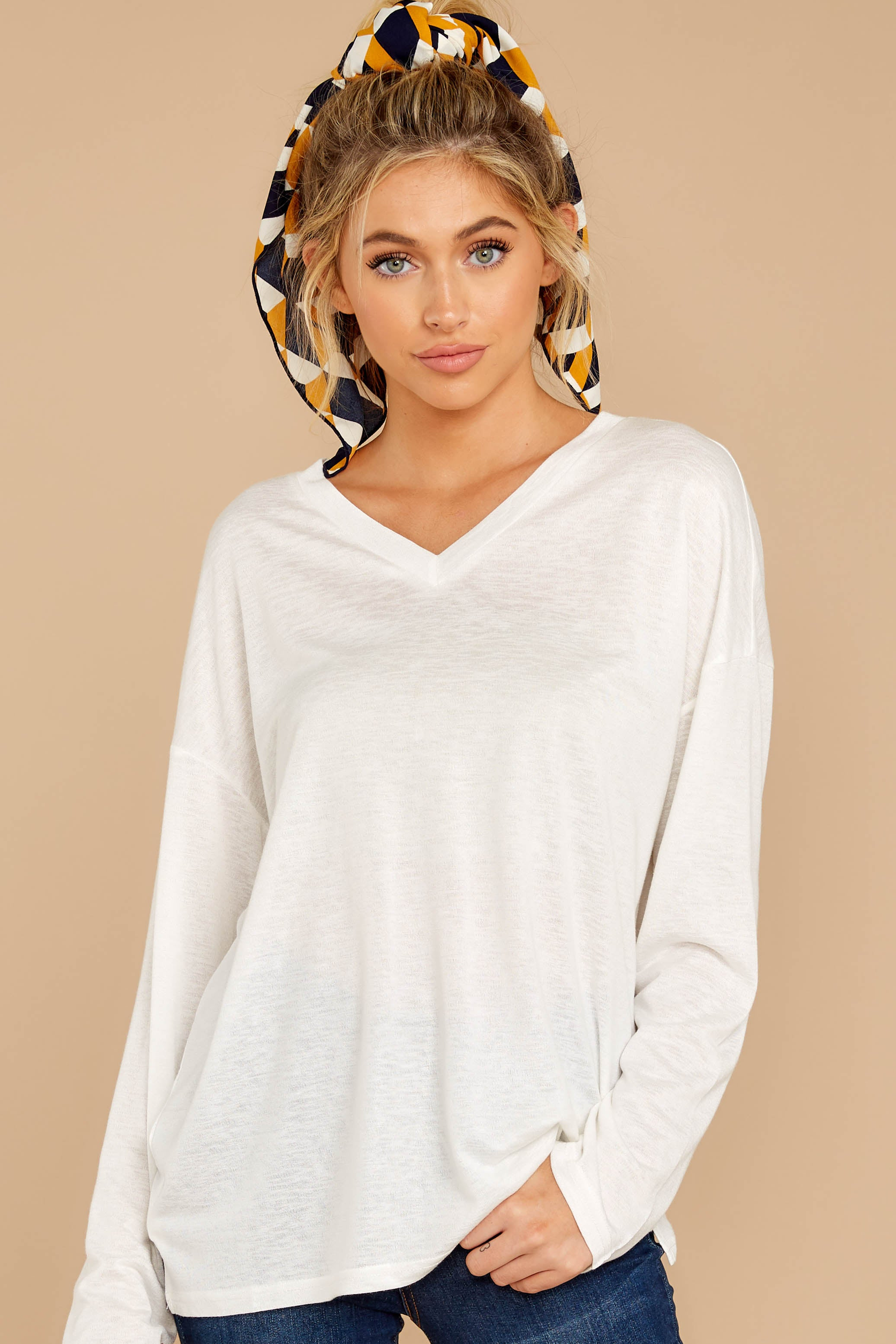 6 Talk To Ya Later White Top at reddressboutique.com