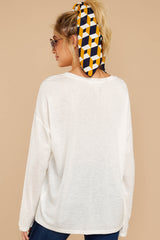 7 Talk To Ya Later White Top at reddressboutique.com