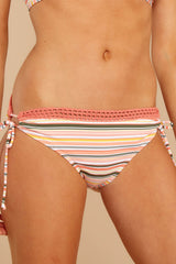 1 Surfing At Sunset Coral Multi Bikini Bottoms at reddressboutique.com