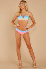 1 My Float Or Yours Pink Multi Bikini Top at reddressboutique.com
