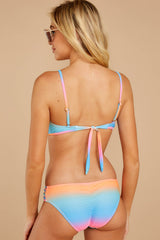 7 My Float Or Yours Pink Multi Bikini Top at reddressboutique.com