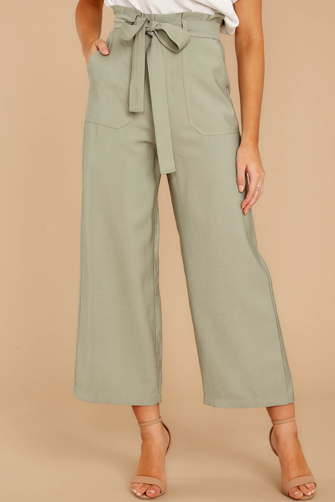 1 Wake Up Wonderful Beige Palazzo Pants at reddress.com