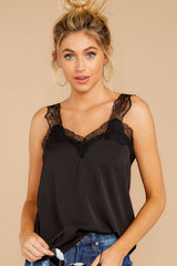 4 Signature Piece Black Lace Tank at reddressboutique.com
