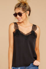 5 Signature Piece Black Lace Tank at reddressboutique.com