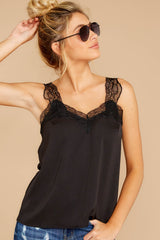 6 Signature Piece Black Lace Tank at reddressboutique.com