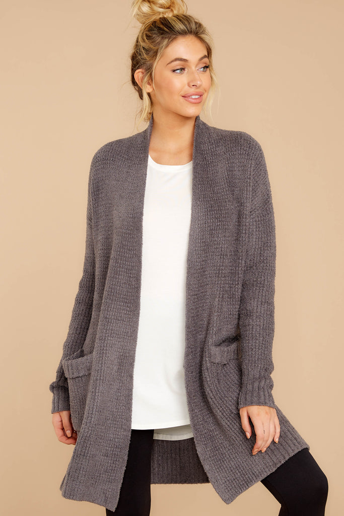 1 Smitten With You Grey Multi Stripe Cardigan at reddress.com