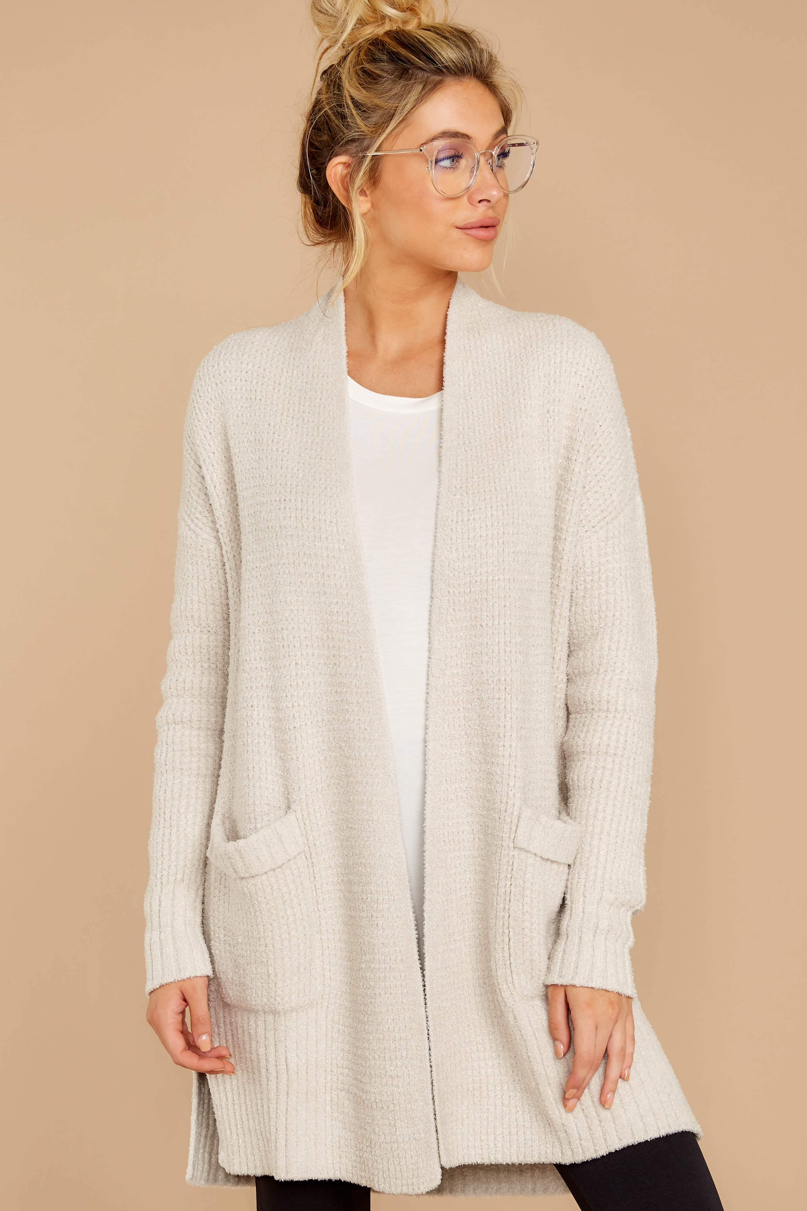 4 CozyChic Lite® Bisque Long Weekend Cardi at reddressboutique.com