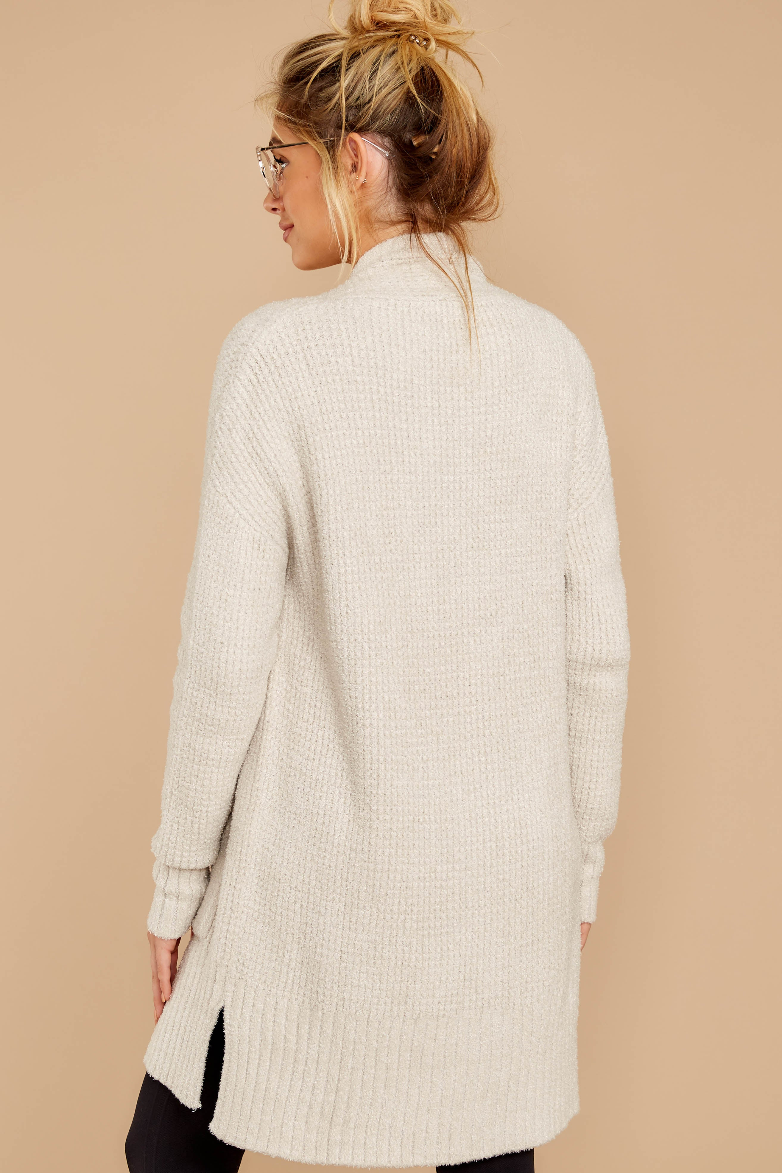7 CozyChic Lite® Bisque Long Weekend Cardi at reddressboutique.com