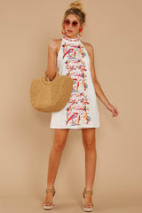 1 All The Chatter White Embroidered Lace Dress at reddressboutique.com
