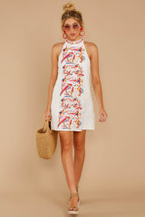 2 All The Chatter White Embroidered Lace Dress at reddressboutique.com