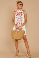 3 All The Chatter White Embroidered Lace Dress at reddressboutique.com