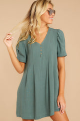 On A Whim Jade Green Dress