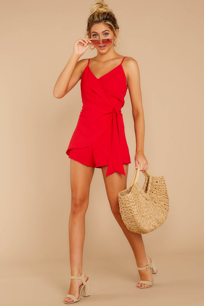 A Little Diddy Red Romper
