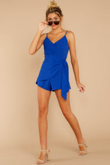 Sky's The Limit Royal Blue Romper