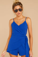 4 Sky's The Limit Royal Blue Romper at reddressboutique.com