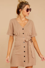 1 Meet The Press Hazelnut Brown Dress at reddress.com