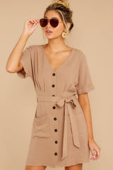 6 Meet The Press Hazelnut Brown Dress at reddress.com