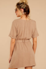 7 Meet The Press Hazelnut Brown Dress at reddress.com