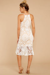 6 Dressed In Chic White Lace Midi Dress at reddressboutique.com