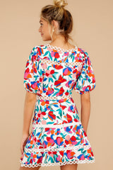 7 With A Flourish Red Floral Print Dress at reddress.com