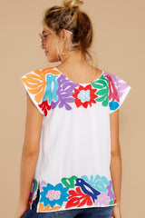 7 Flight To Freedom White Embroidered Top at reddressboutique.com