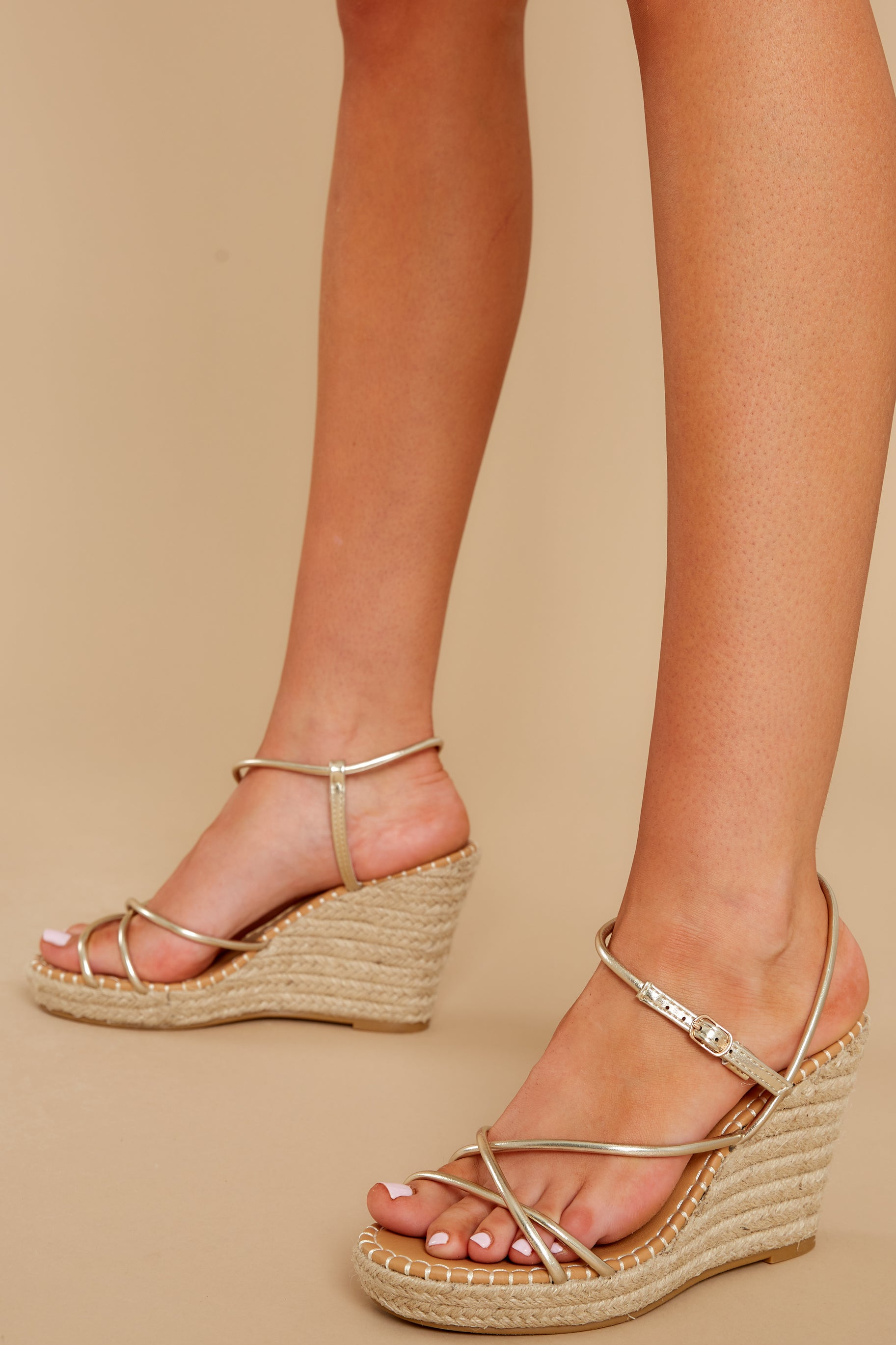 2 Minutes To Midnight Gold Wedges at reddress.com