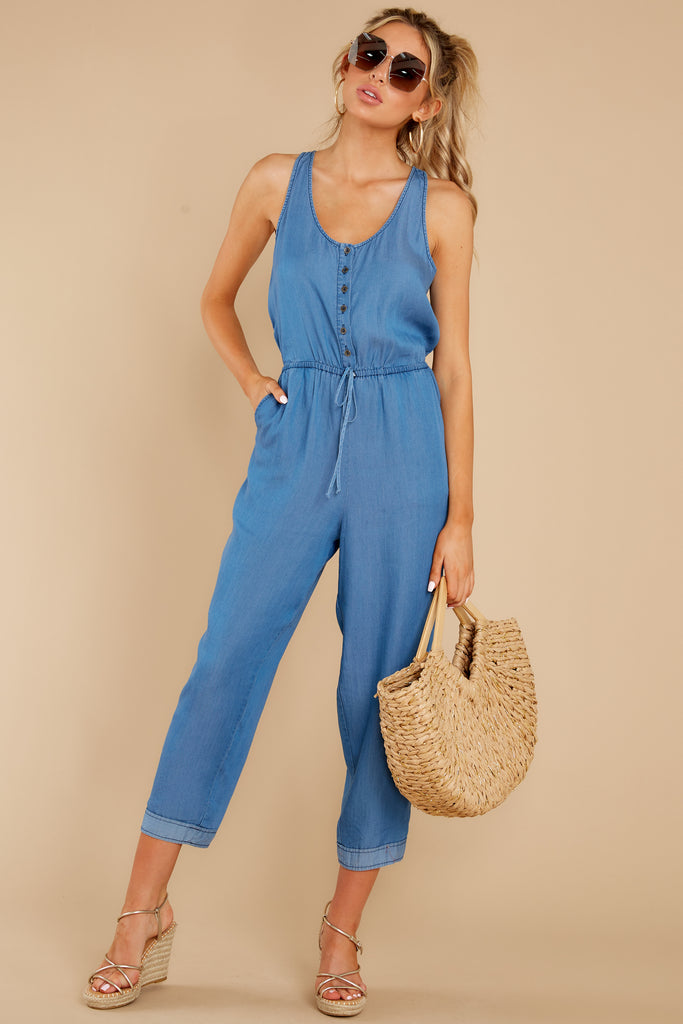 1 Morellia Dew Drops Corduroy Jumpsuit at reddress.com