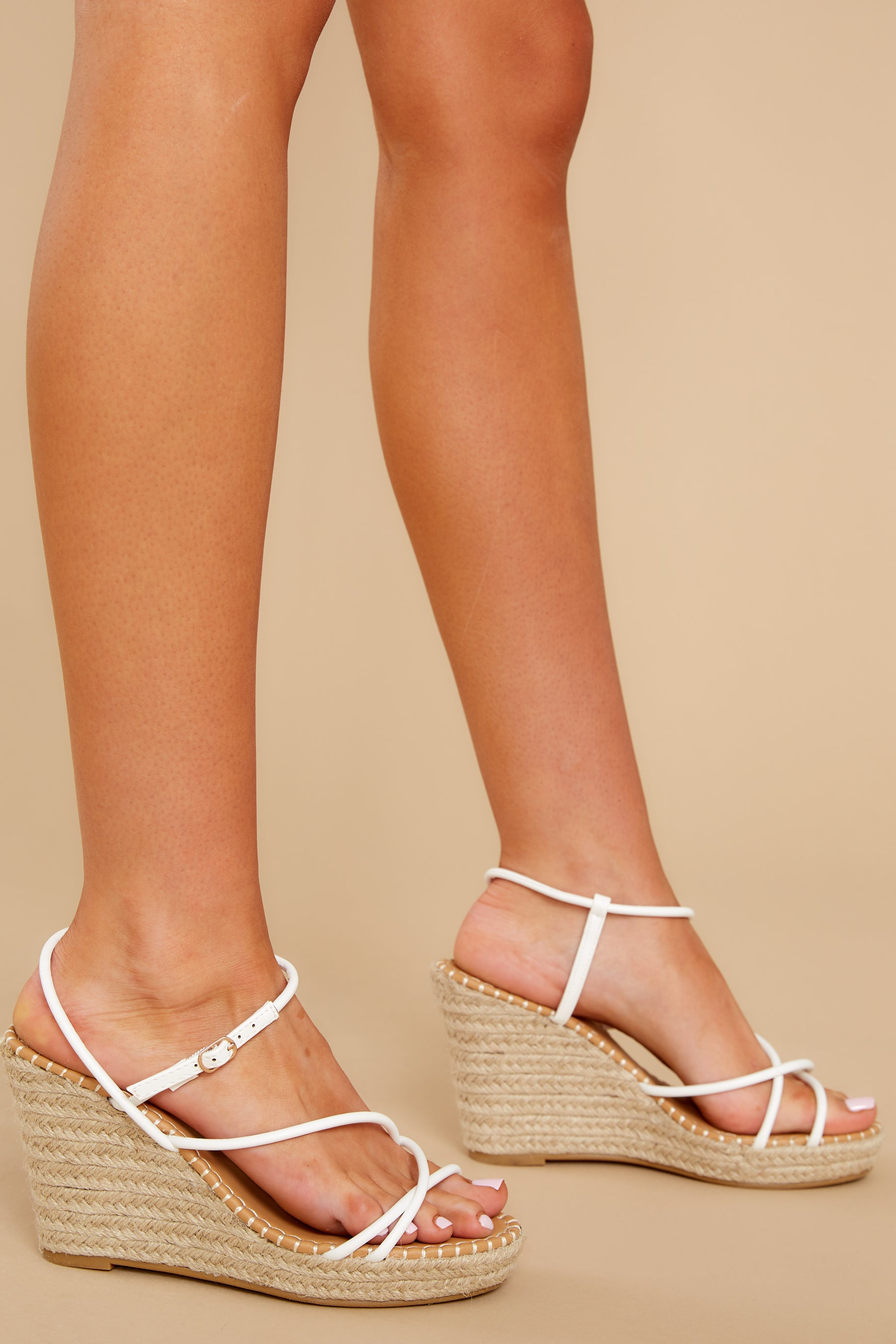 2 Minutes To Midnight White Wedges at reddress.com