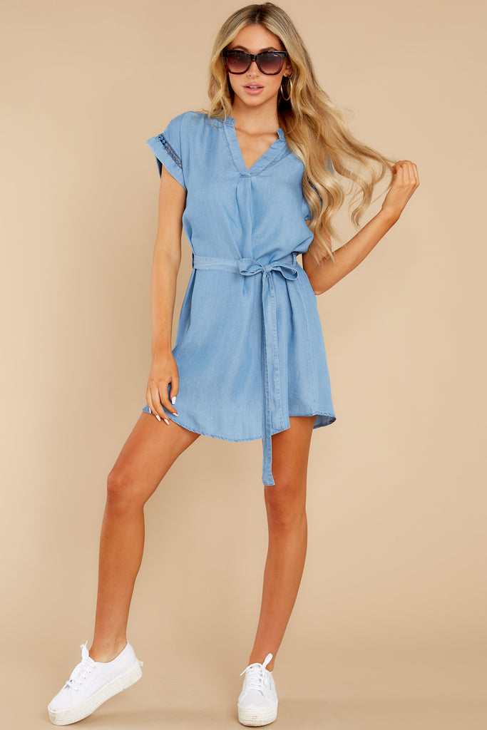 11 Wander Free Chambray Button Up Top at reddress.com
