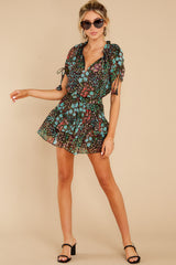 2 If You Don't Black Multi Floral Print Dress at reddress.com