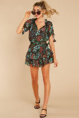 4 If You Don't Black Multi Floral Print Dress at reddress.com