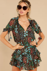 5 If You Don't Black Multi Floral Print Dress at reddress.com