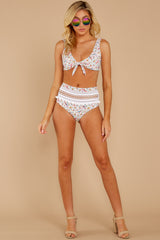 3 Fly Off To Cabo White Multi Print Bikini Bottoms at reddress.com