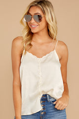 5 Sleek And Sassy Cream Satin Tank Top at reddress.com