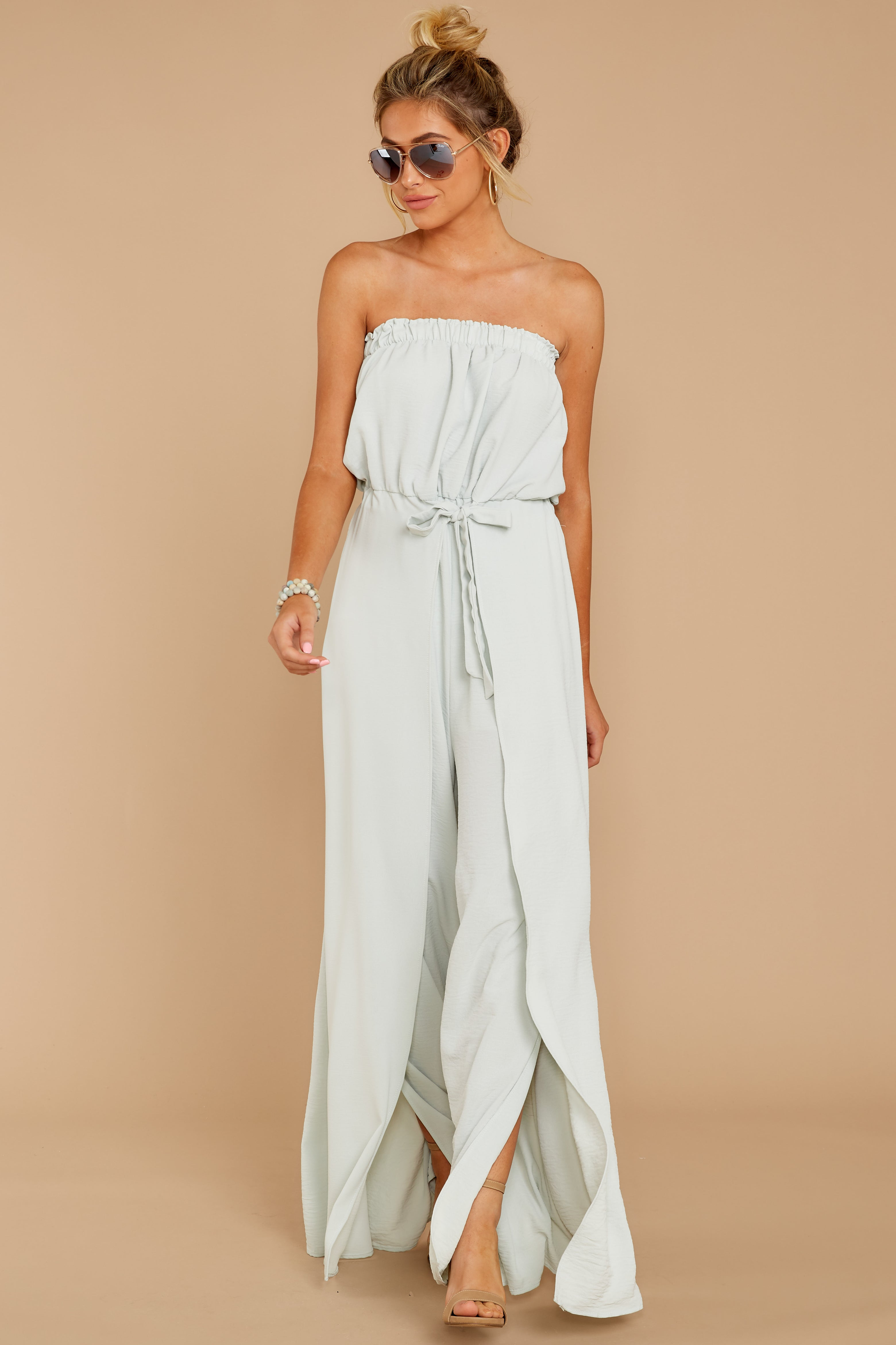 1 International Traveler Pastel Mint Jumpsuit at reddress.com