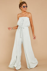 3 International Traveler Pastel Mint Jumpsuit at reddress.com