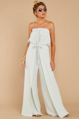 4 International Traveler Pastel Mint Jumpsuit at reddress.com