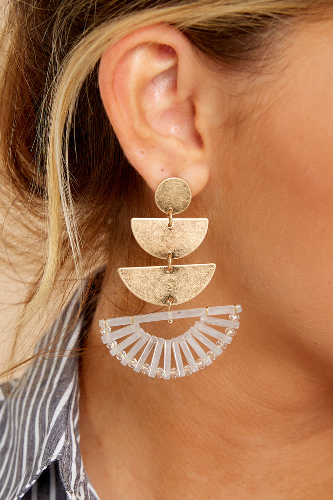 1 Basically Chic Gold Earrings at reddressboutique.com