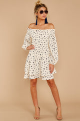 3 For The Twirl Of It White Print Dress at reddressboutique.com